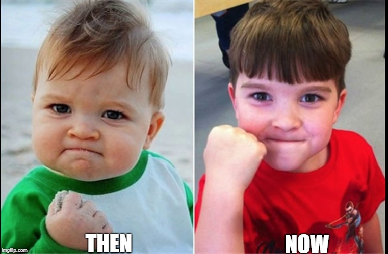 THEN NOW | image tagged in memes,ssby,funny,then vs now,meme star | made w/ Imgflip meme maker