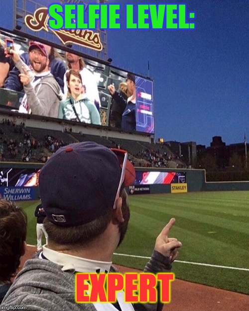 Jumbotron Photobomb | SELFIE LEVEL: EXPERT | image tagged in greatest,selfie,amazing,timing,funny memes | made w/ Imgflip meme maker