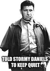 TOLD STORMY DANIELS TO KEEP QUIET | image tagged in stormy daniels,trump memes | made w/ Imgflip meme maker