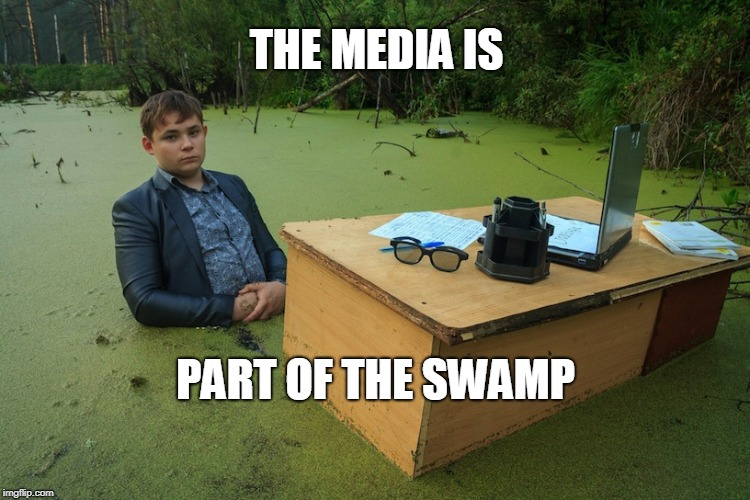 THE MEDIA IS PART OF THE SWAMP | image tagged in swamp boy | made w/ Imgflip meme maker
