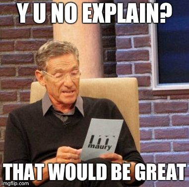 Maury Lie Detector Meme | Y U NO EXPLAIN? THAT WOULD BE GREAT | image tagged in memes,maury lie detector | made w/ Imgflip meme maker