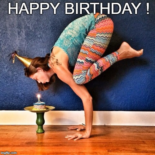 Image Tagged In Yoga Birthday