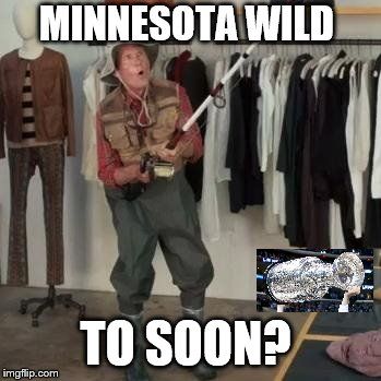 State Farm Fisherman  | MINNESOTA WILD TO SOON? | image tagged in state farm fisherman | made w/ Imgflip meme maker