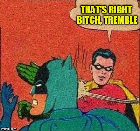 THAT'S RIGHT B**CH, TREMBLE | made w/ Imgflip meme maker