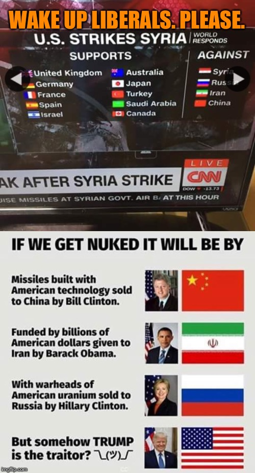 If you're scared of ww3 it's time to wake up. | WAKE UP LIBERALS. PLEASE. | image tagged in politics,liberal logic | made w/ Imgflip meme maker