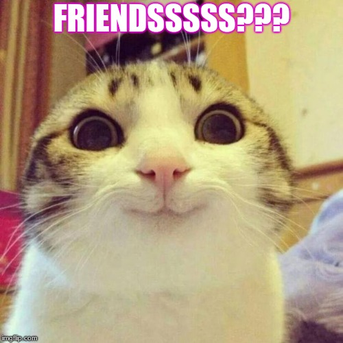 Smiling Cat | FRIENDSSSSS??? | image tagged in memes,smiling cat | made w/ Imgflip meme maker