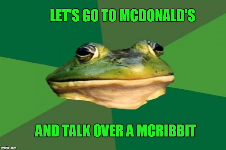 LET'S GO TO MCDONALD'S AND TALK OVER A MCRIBBIT | made w/ Imgflip meme maker