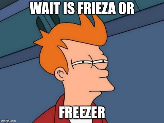 Futurama Fry Meme | WAIT IS FRIEZA OR FREEZER | image tagged in memes,futurama fry | made w/ Imgflip meme maker