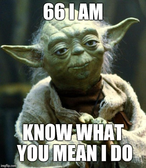 Star Wars Yoda Meme | 66 I AM KNOW WHAT YOU MEAN I DO | image tagged in memes,star wars yoda | made w/ Imgflip meme maker