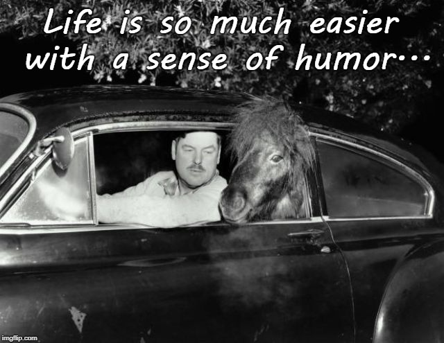 So much easier... | Life is so much easier with a sense of humor... | image tagged in life,with,sense of humor | made w/ Imgflip meme maker