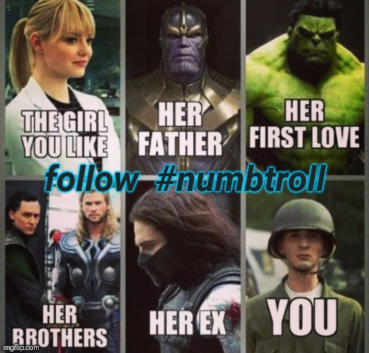 follow  #numbtroll | image tagged in girlfriend expectation be like | made w/ Imgflip meme maker