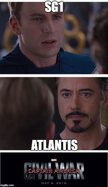 Marvel Civil War 1 | SG1 ATLANTIS | image tagged in memes,marvel civil war 1 | made w/ Imgflip meme maker