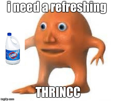 How to bring back surreal meme's | i need a refreshing THRINCC | image tagged in surreal orang,orange | made w/ Imgflip meme maker