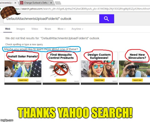 Yahoo Search | THANKS YAHOO SEARCH! | image tagged in memes,yahoo | made w/ Imgflip meme maker