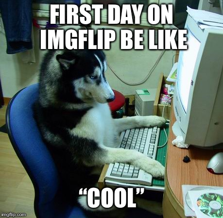 "I Have No Idea What I Am Doing Meme | FIRST DAY ON IMGFLIP BE LIKE ""COOL"" 