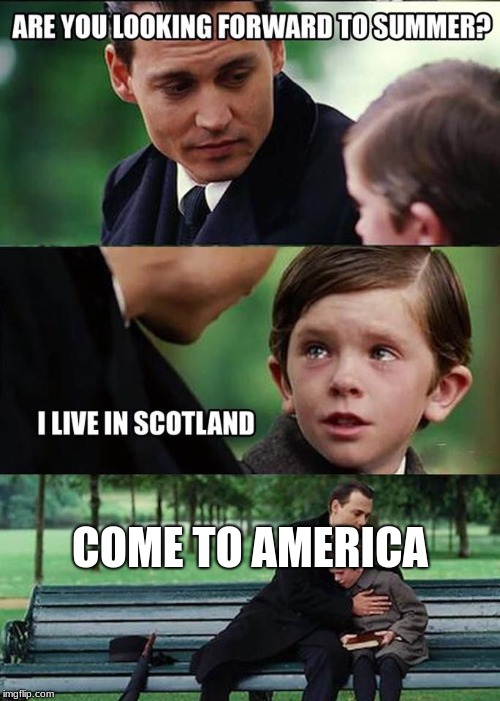 COME TO AMERICA | image tagged in summer in holland | made w/ Imgflip meme maker