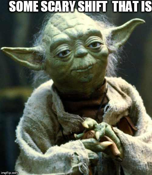 Star Wars Yoda Meme | SOME SCARY SHIFT  THAT IS | image tagged in memes,star wars yoda | made w/ Imgflip meme maker