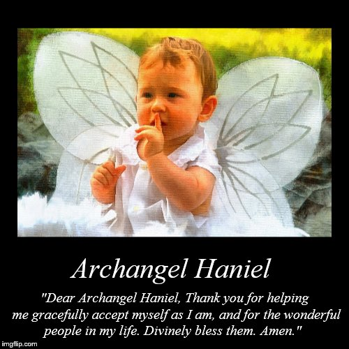 "Archangel Haniel | ""Dear Archangel Haniel, Thank you for helping me gracefully accept myself as I am, and for the wonderful people in my lif 