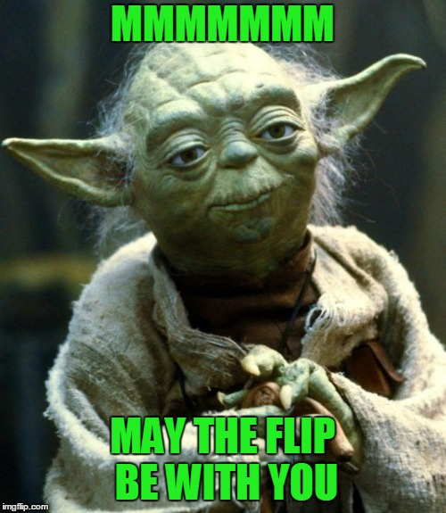 Star Wars Yoda Meme | MMMMMMM MAY THE FLIP BE WITH YOU | image tagged in memes,star wars yoda | made w/ Imgflip meme maker