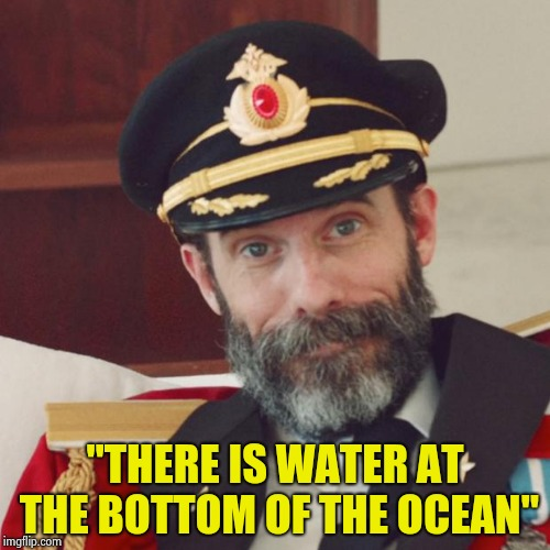 "Thanks to David Byrne we now know | ""THERE IS WATER AT THE BOTTOM OF THE OCEAN"" 