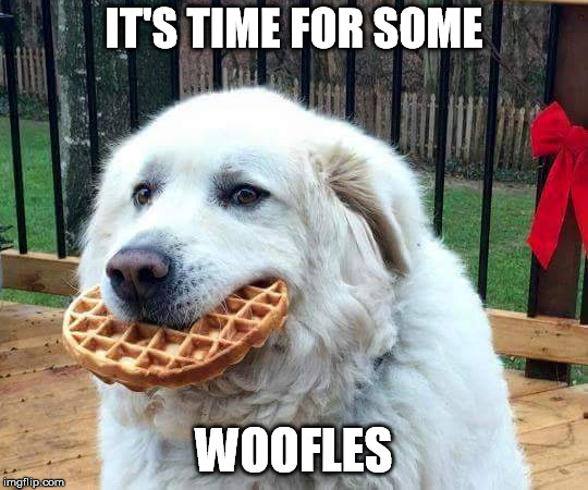 IT'S TIME FOR SOME WOOFLES | made w/ Imgflip meme maker