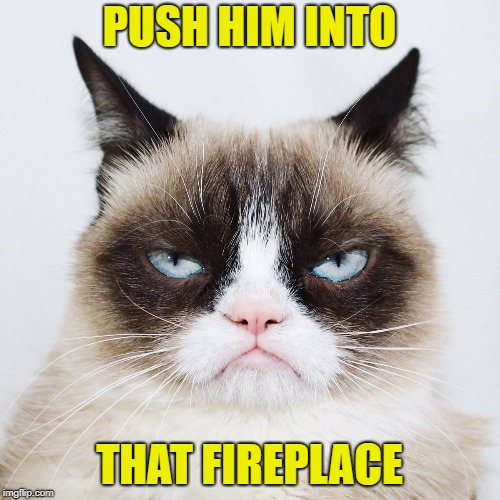 PUSH HIM INTO THAT FIREPLACE | made w/ Imgflip meme maker