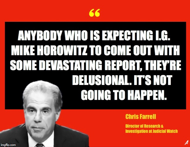 IG Michael Horowitz DOJ Report  | image tagged in doj,michael horowitz,obamagate,inspector general,judicial watch | made w/ Imgflip meme maker