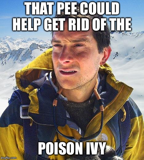 THAT PEE COULD HELP GET RID OF THE POISON IVY | made w/ Imgflip meme maker