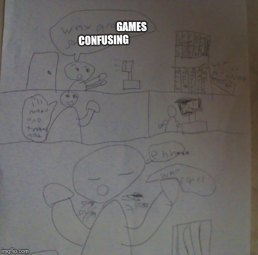 GAMES CONFUSING | image tagged in things are so | made w/ Imgflip meme maker