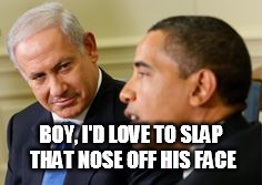 BOY, I'D LOVE TO SLAP THAT NOSE OFF HIS FACE | image tagged in obamas friend | made w/ Imgflip meme maker