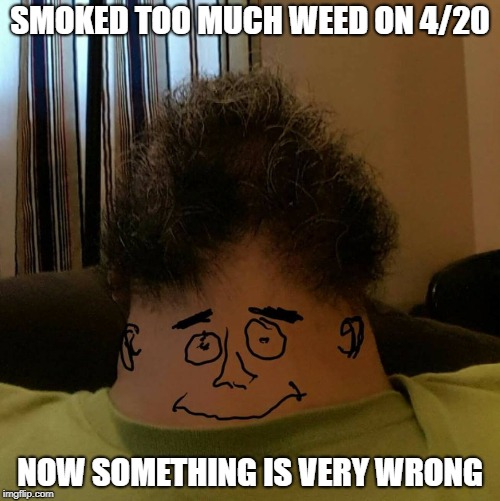 SMOKED TOO MUCH WEED ON 4/20 NOW SOMETHING IS VERY WRONG | image tagged in weed,420,happy 420,stoned,meme,dank memes | made w/ Imgflip meme maker
