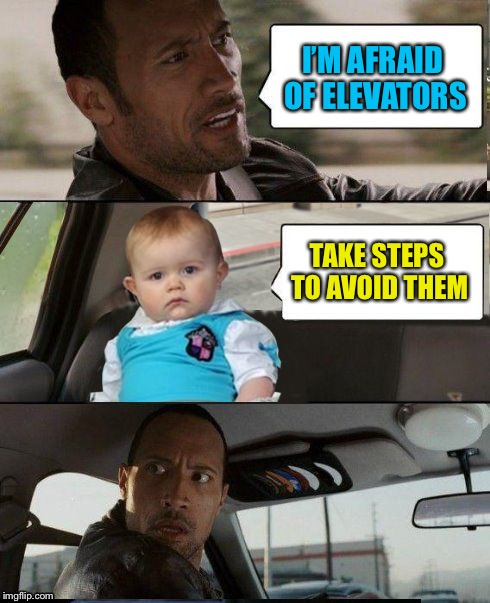 I'M AFRAID OF ELEVATORS TAKE STEPS TO AVOID THEM | made w/ Imgflip meme maker