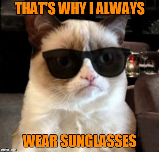 THAT'S WHY I ALWAYS WEAR SUNGLASSES | made w/ Imgflip meme maker