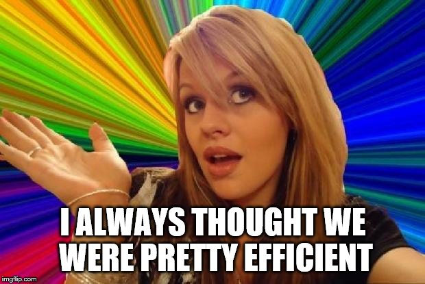 I ALWAYS THOUGHT WE WERE PRETTY EFFICIENT | made w/ Imgflip meme maker