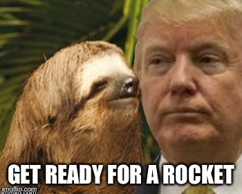 Political advice sloth | GET READY FOR A ROCKET | image tagged in political advice sloth | made w/ Imgflip meme maker