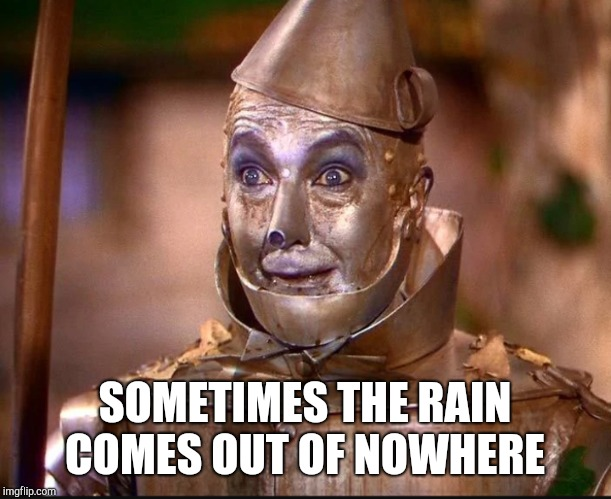 SOMETIMES THE RAIN COMES OUT OF NOWHERE | made w/ Imgflip meme maker