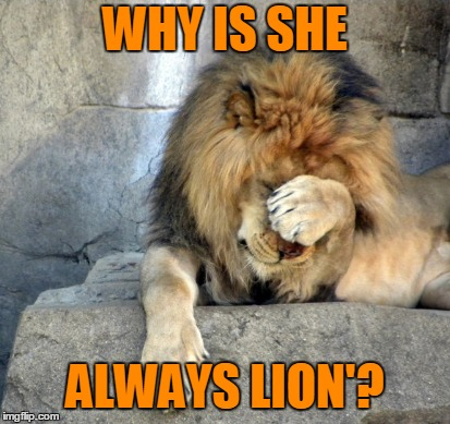 WHY IS SHE ALWAYS LION'? | made w/ Imgflip meme maker