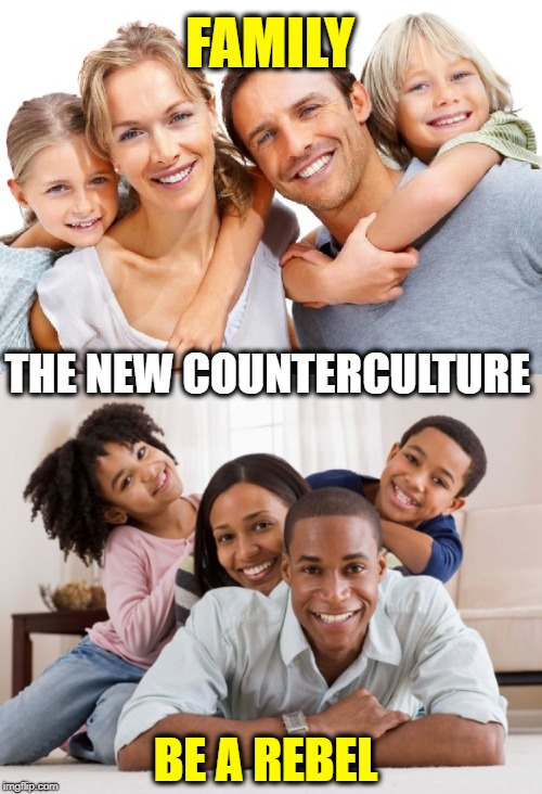 FAMILY - Counterculture | THE NEW COUNTERCULTURE FAMILY BE A REBEL | image tagged in family,rebel,punk,memes,truth | made w/ Imgflip meme maker