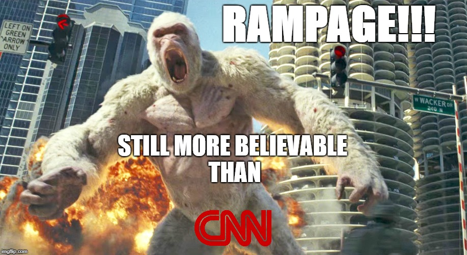 "I'd like to see a trend with ""--"" still more believable in CNN using various unbelievable templates.   