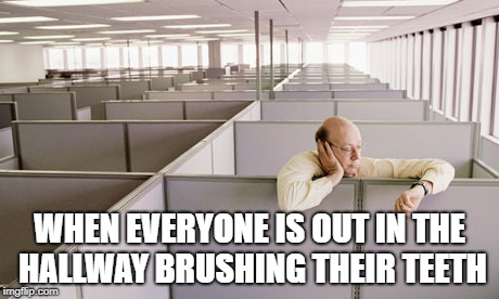 WHEN EVERYONE IS OUT IN THE HALLWAY BRUSHING THEIR TEETH | image tagged in korea,office,corporate,dental health | made w/ Imgflip meme maker
