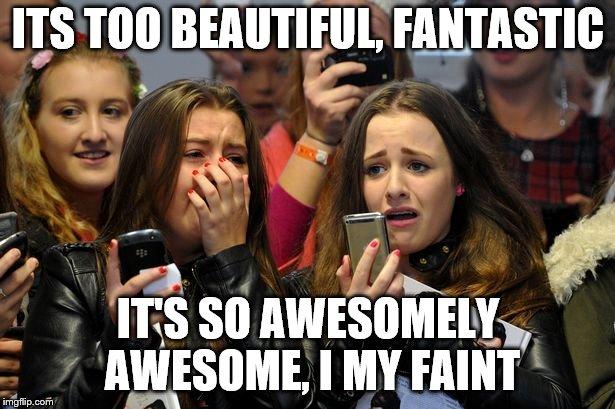 ITS TOO BEAUTIFUL, FANTASTIC IT'S SO AWESOMELY AWESOME, I MY FAINT | made w/ Imgflip meme maker