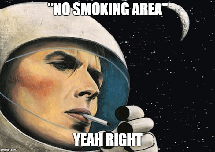 """NO SMOKING AREA"" YEAH RIGHT 