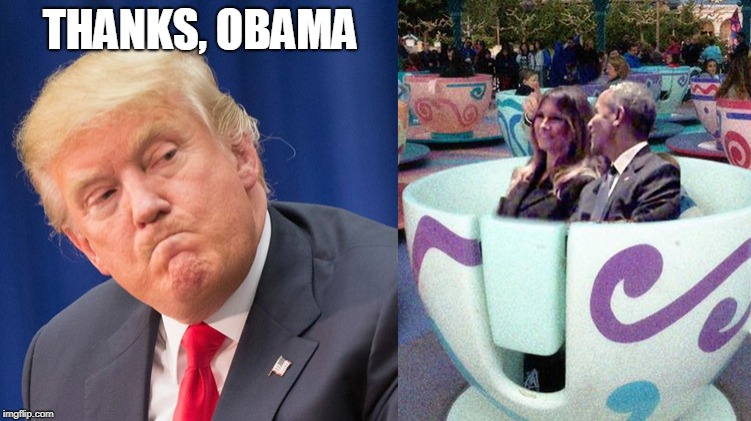Once you go Barrack... | THANKS, OBAMA | image tagged in obama,melania,donald trump,thanks obama | made w/ Imgflip meme maker