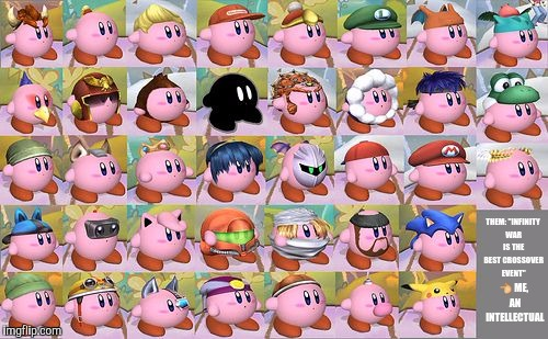 "all kirby hats | THEM: ""INFINITY WAR IS THE BEST CROSSOVER EVENT""  