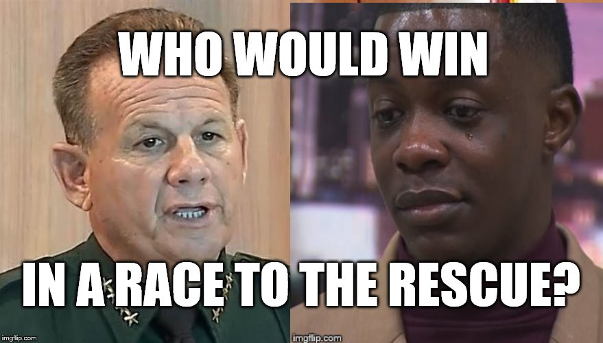 WHO WOULD WIN IN A RACE TO THE RESCUE? | image tagged in waffle house | made w/ Imgflip meme maker