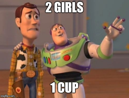 You Won't Get a Woody | 2 GIRLS 1 CUP | image tagged in memes,x,x everywhere,films,nsfw,wrong | made w/ Imgflip meme maker