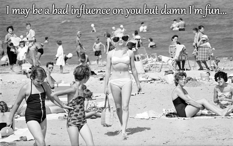 Fun... | I may be a bad influence on you but damn I'm fun... | image tagged in bad influence,fun | made w/ Imgflip meme maker