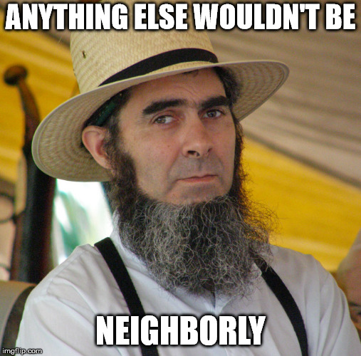 ANYTHING ELSE WOULDN'T BE NEIGHBORLY | made w/ Imgflip meme maker