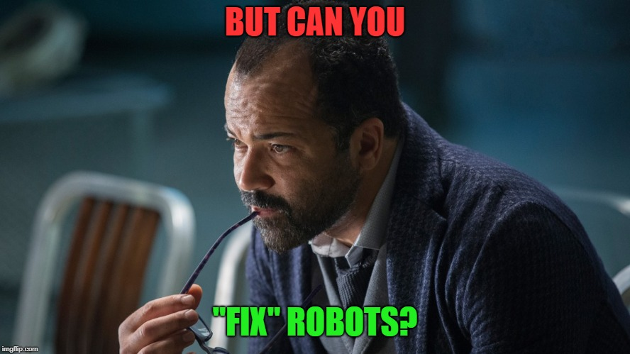 "BUT CAN YOU ""FIX"" ROBOTS? 
