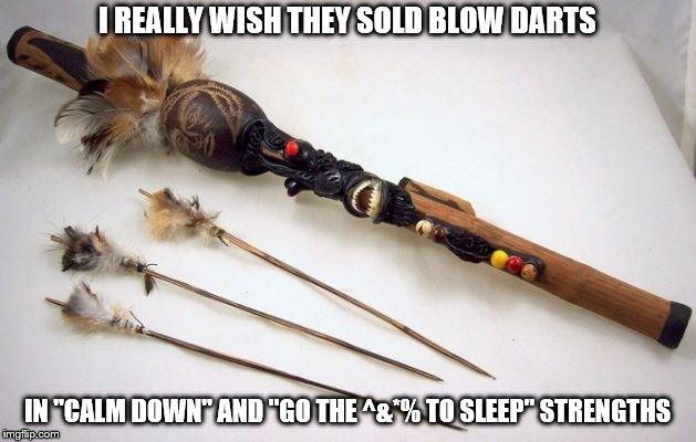 "Blow Darts for Kids | I REALLY WISH THEY SOLD BLOW DARTS IN ""CALM DOWN"" AND ""GO THE ^&*% TO SLEEP"" STRENGTHS 